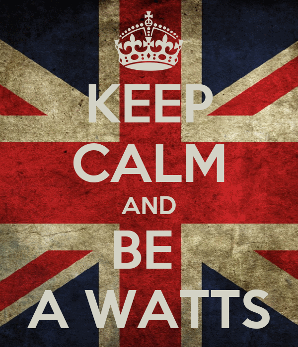 KEEP CALM AND BE  A WATTS