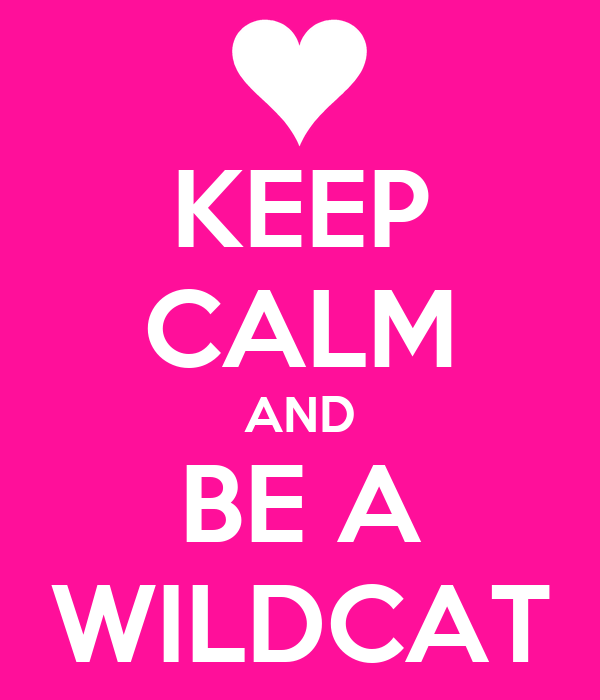 KEEP CALM AND BE A WILDCAT