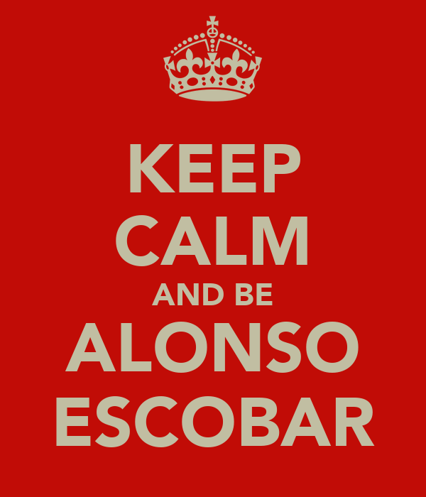 KEEP CALM AND BE ALONSO ESCOBAR