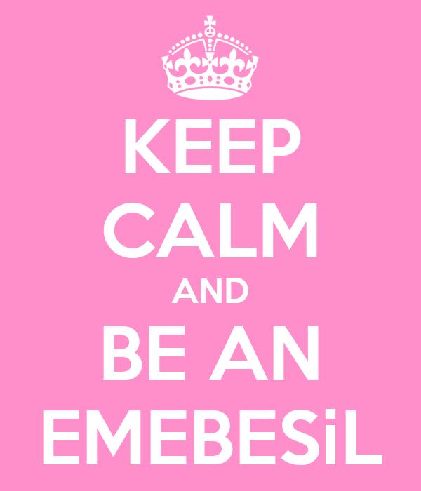 KEEP CALM AND BE AN EMEBESiL