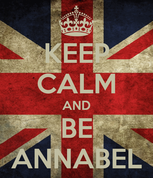 KEEP CALM AND BE ANNABEL