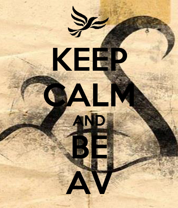 KEEP CALM AND BE AV