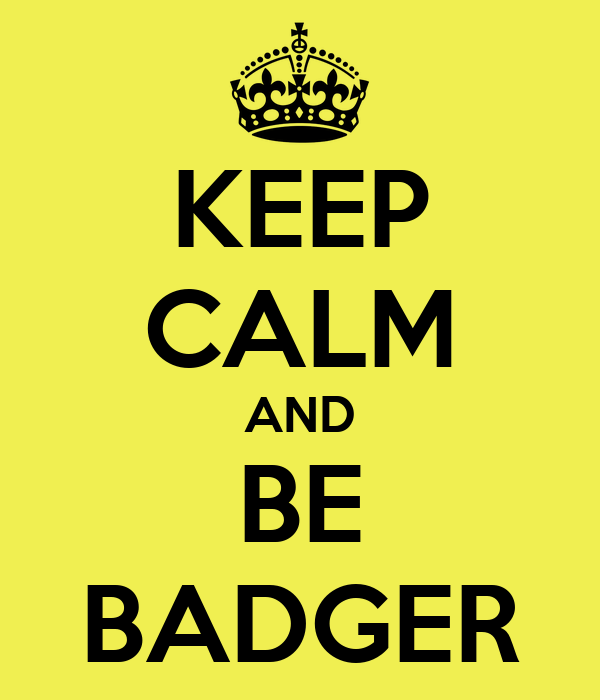 KEEP CALM AND BE BADGER