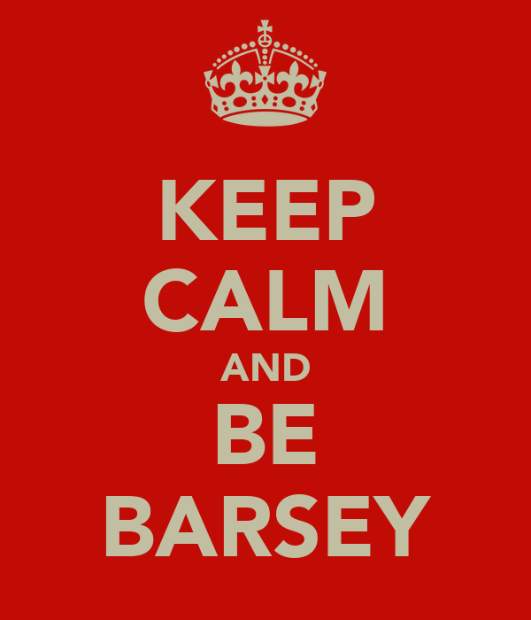 KEEP CALM AND BE BARSEY
