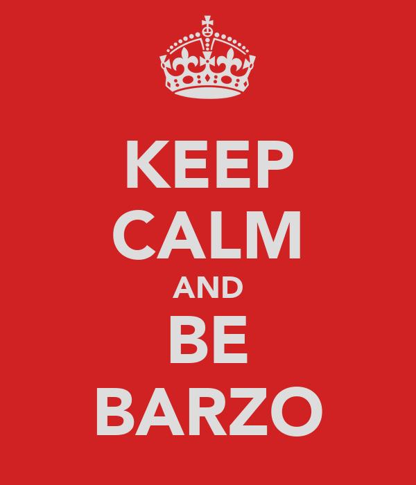 KEEP CALM AND BE BARZO
