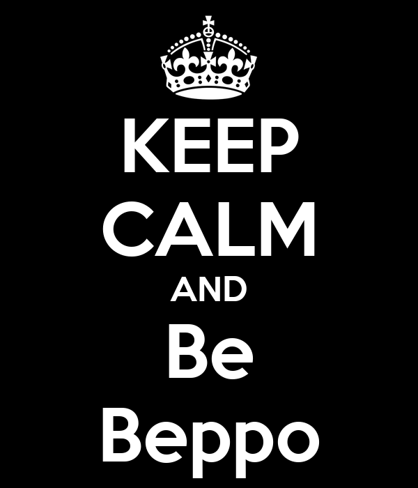 KEEP CALM AND Be Beppo