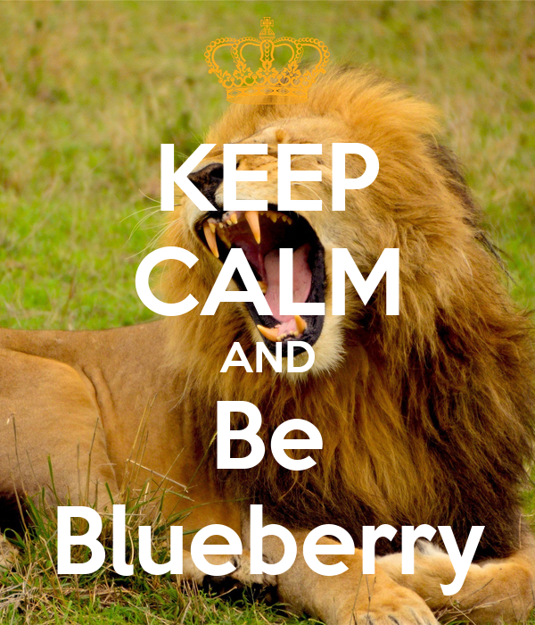 KEEP CALM AND Be Blueberry