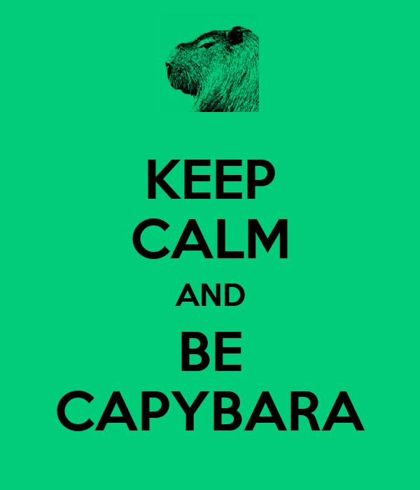 KEEP CALM AND BE CAPYBARA