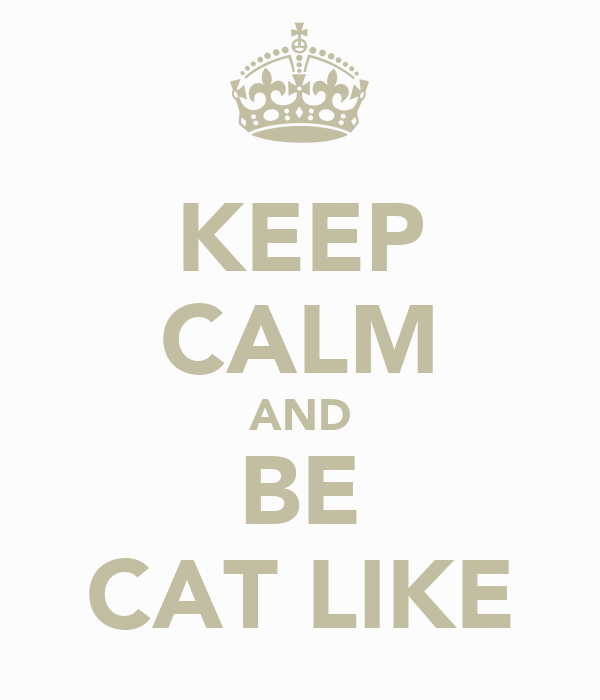 KEEP CALM AND BE CAT LIKE