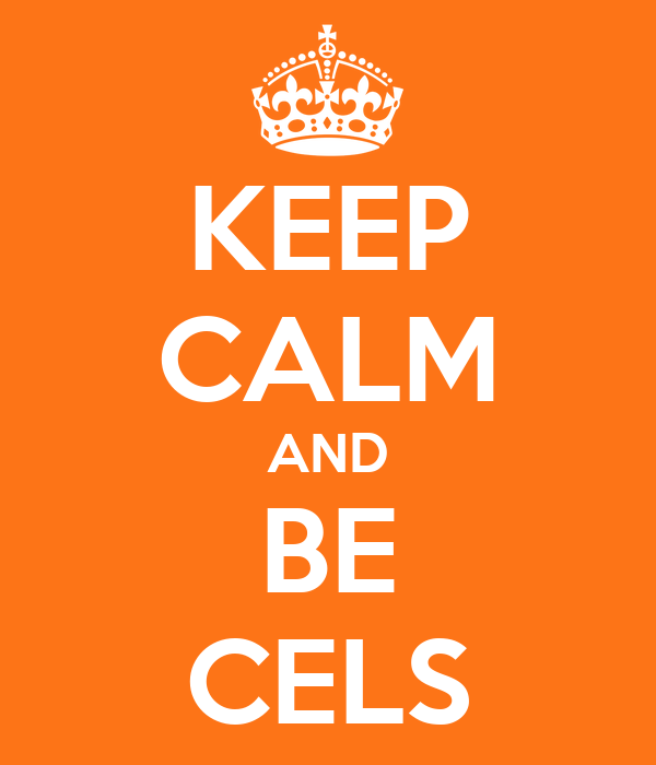 KEEP CALM AND BE CELS