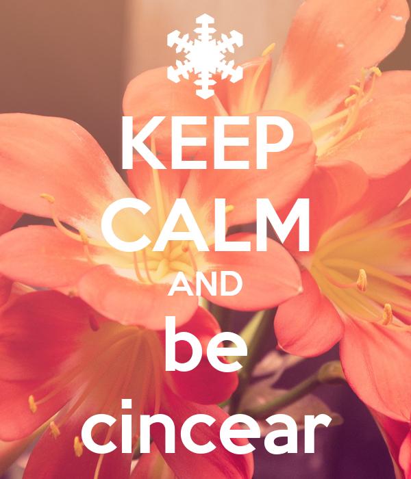 KEEP CALM AND be cincear