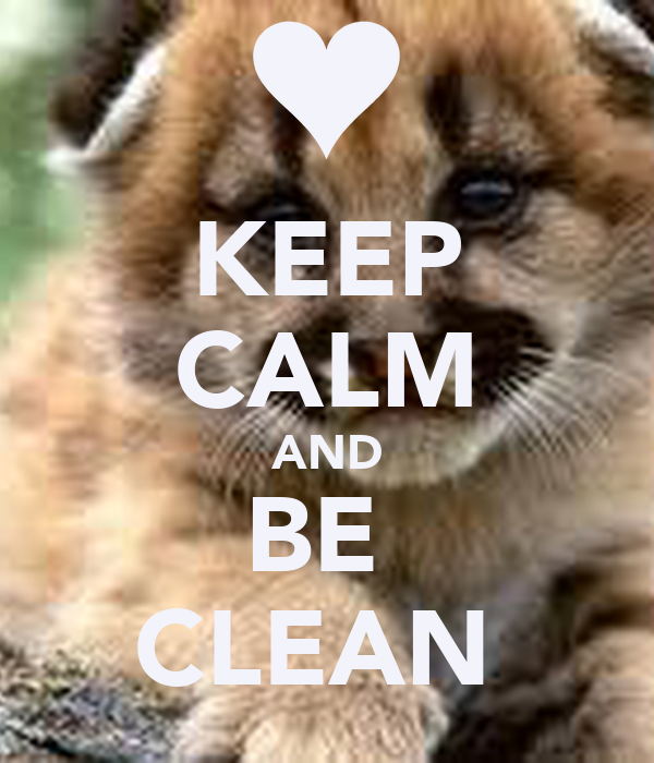 KEEP CALM AND BE  CLEAN