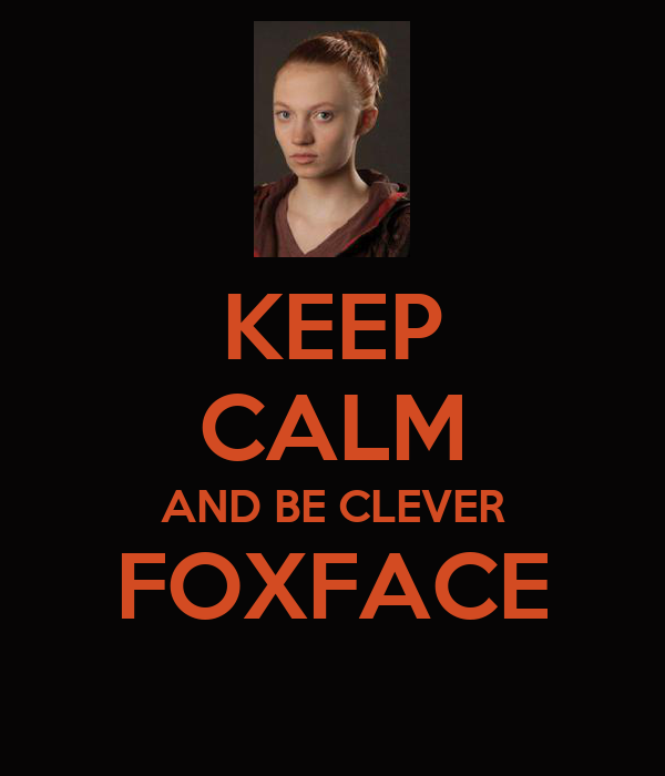 KEEP CALM AND BE CLEVER FOXFACE