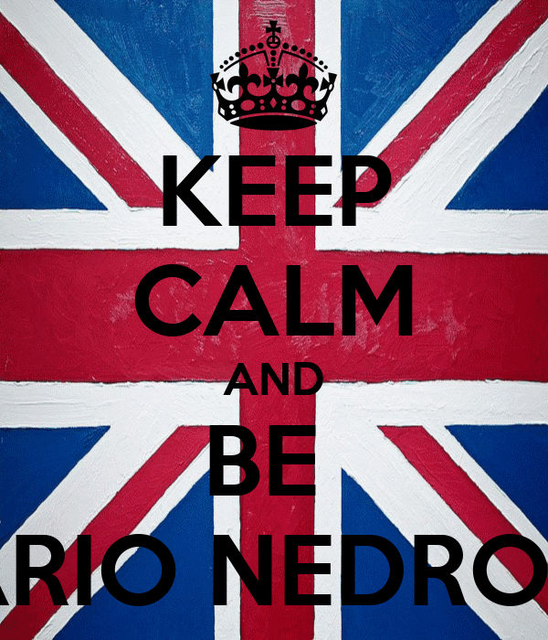 KEEP CALM AND BE  DARIO NEDROTTI