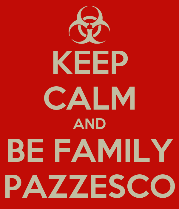 KEEP CALM AND BE FAMILY PAZZESCO