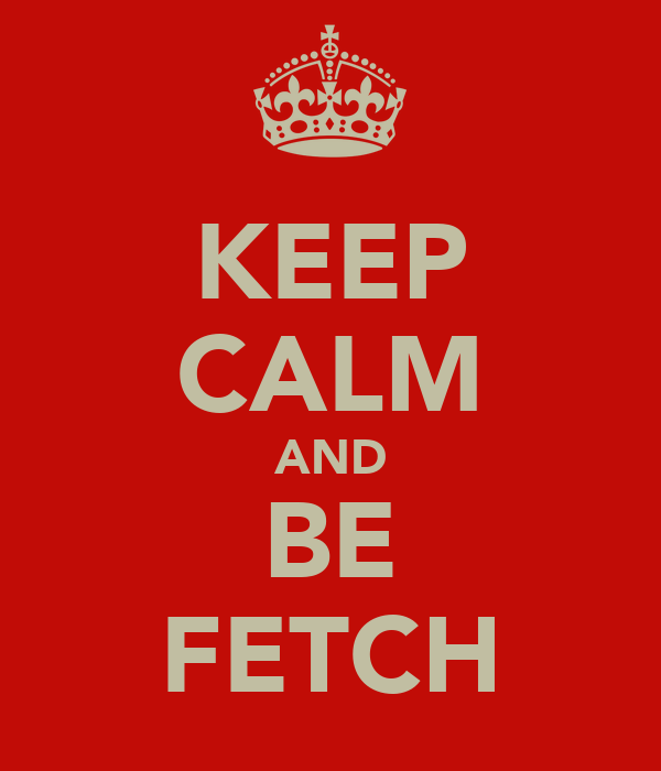 KEEP CALM AND BE FETCH