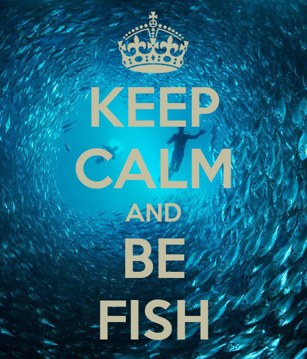 KEEP CALM AND BE FISH
