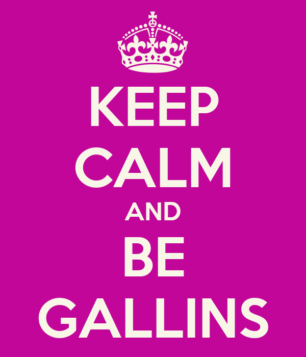 KEEP CALM AND BE GALLINS
