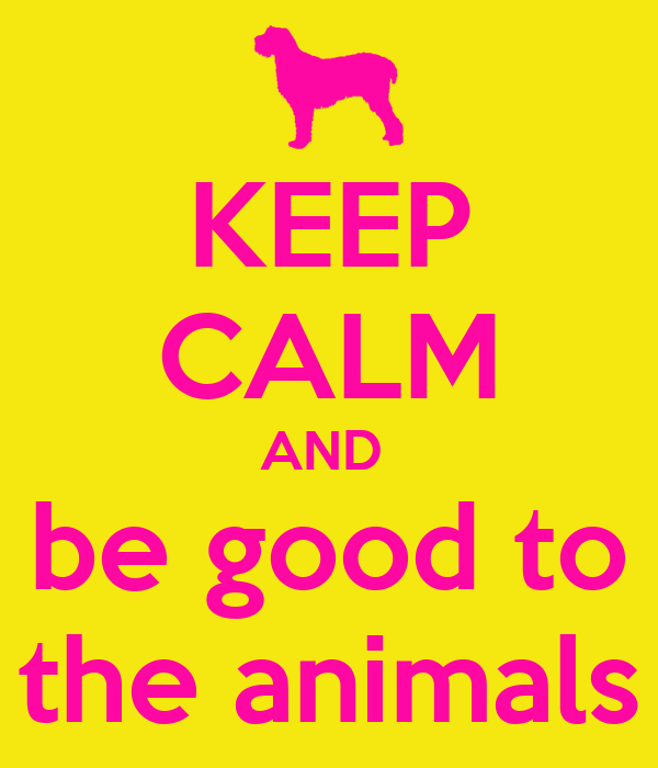 KEEP CALM AND  be good to the animals