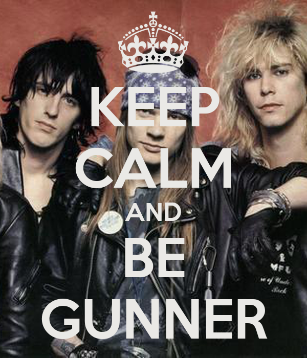 KEEP CALM AND BE GUNNER