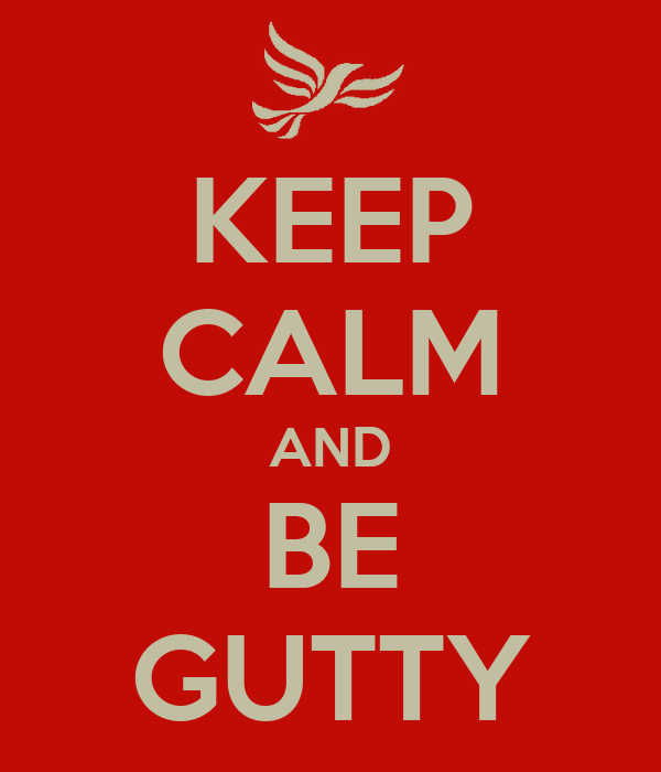 KEEP CALM AND BE GUTTY