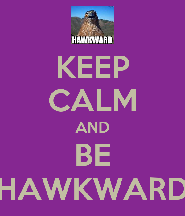 KEEP CALM AND BE HAWKWARD