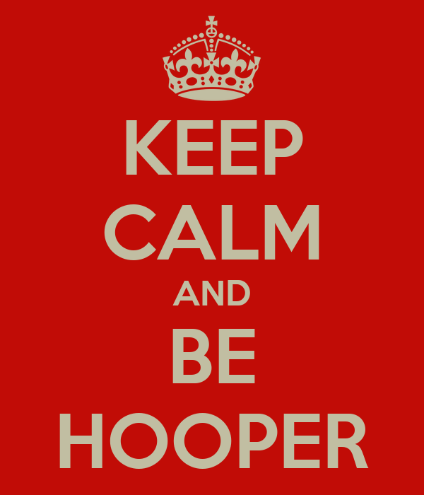 KEEP CALM AND BE HOOPER