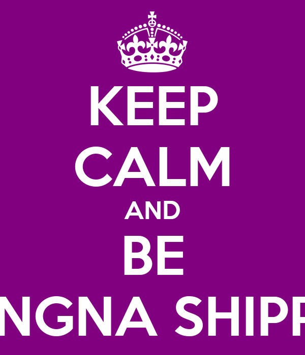 KEEP CALM AND BE JONGNA SHIPPER