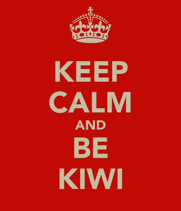 KEEP CALM AND BE KIWI