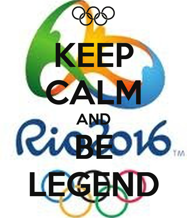 KEEP CALM AND BE LEGEND