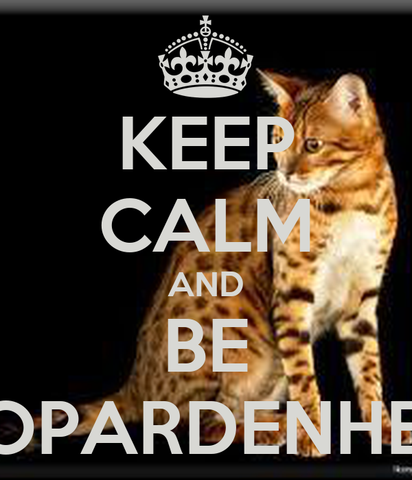KEEP CALM AND BE LEOPARDENHERZ