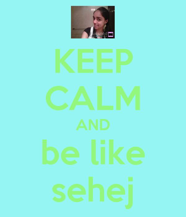KEEP CALM AND be like sehej