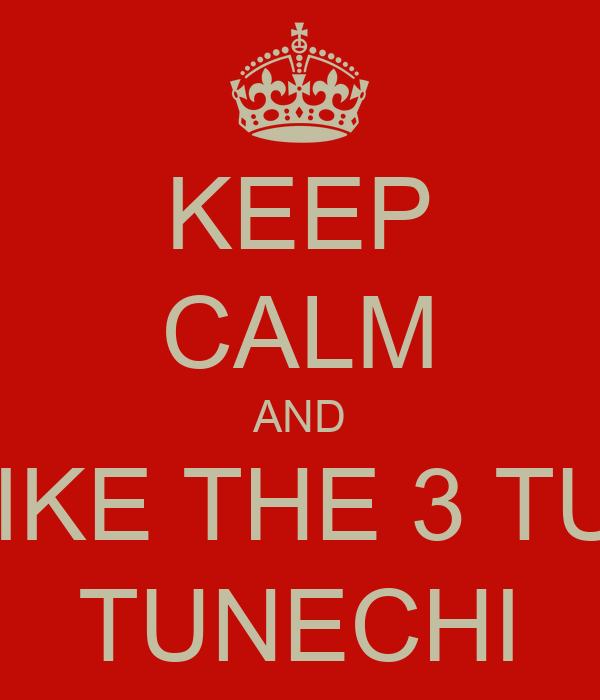 KEEP CALM AND BE LIKE THE 3 TUNEZ TUNECHI