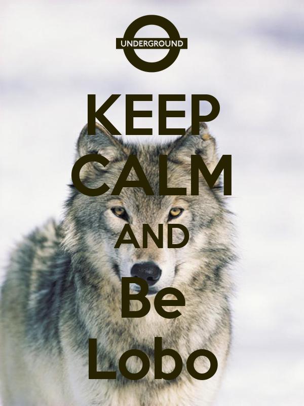 KEEP CALM AND Be Lobo