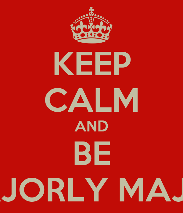 KEEP CALM AND BE MAJORLY MAJOR