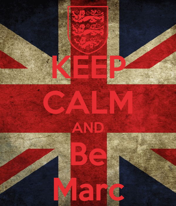KEEP CALM AND Be Marc