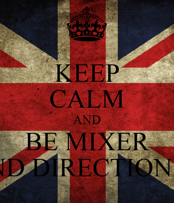 KEEP CALM AND BE MIXER AND DIRECTIONER