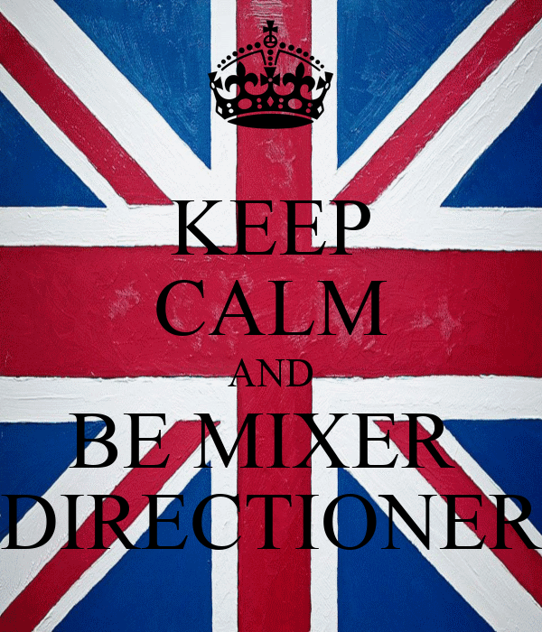KEEP CALM AND BE MIXER  DIRECTIONER
