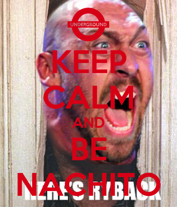 KEEP CALM AND BE NACHITO