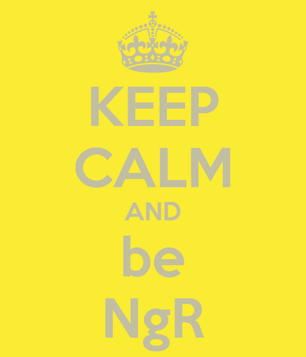 KEEP CALM AND be NgR