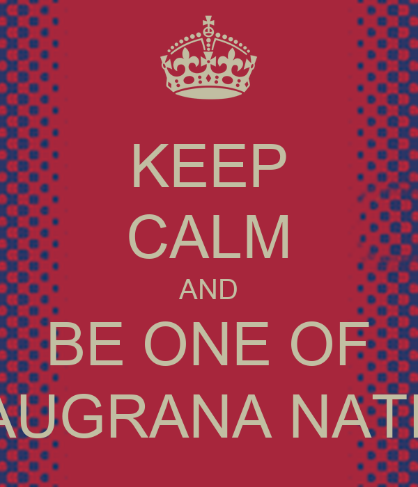 KEEP CALM AND BE ONE OF BLAUGRANA NATION