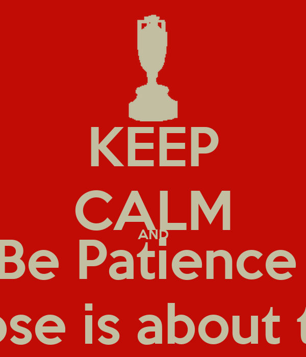 KEEP CALM AND Be Patience  Derek Rose is about to return