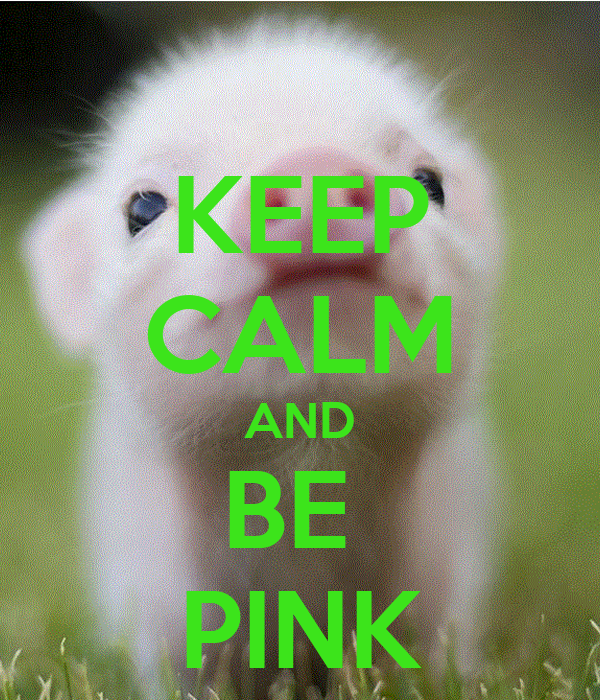 KEEP CALM AND BE  PINK