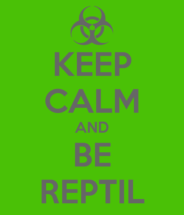 KEEP CALM AND BE REPTIL