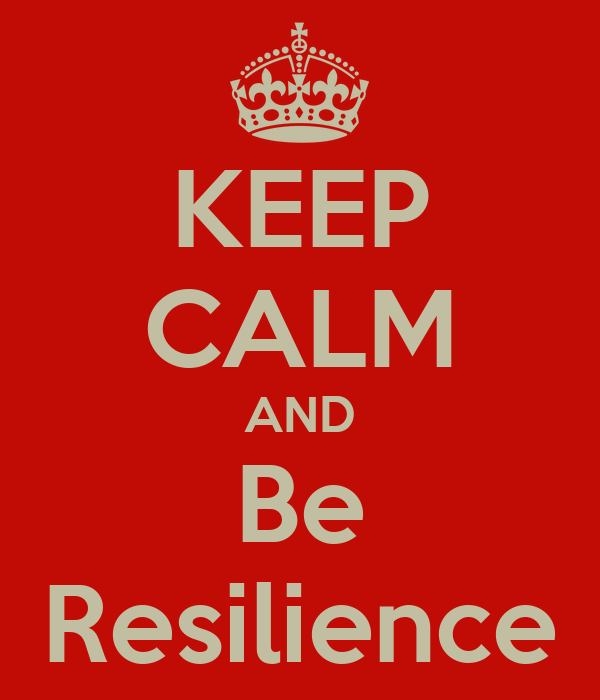 KEEP CALM AND Be Resilience
