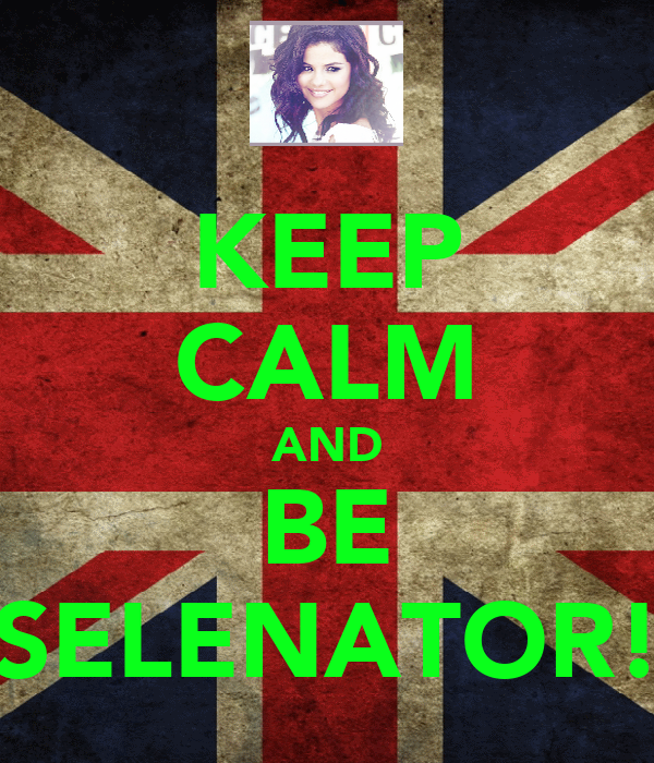 KEEP CALM AND BE SELENATOR!
