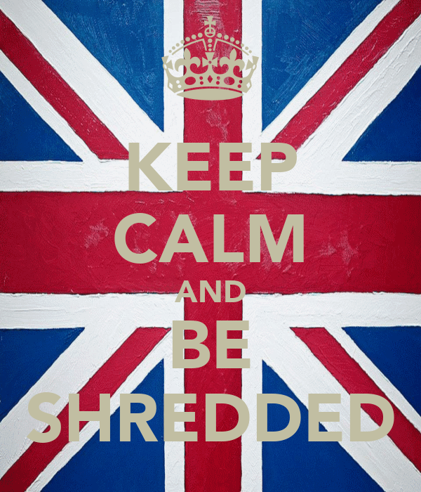 KEEP CALM AND BE SHREDDED