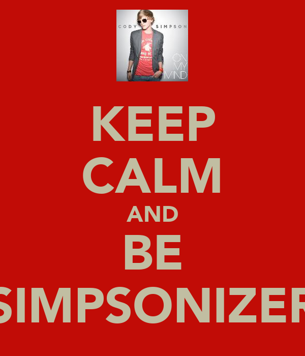 KEEP CALM AND BE SIMPSONIZER
