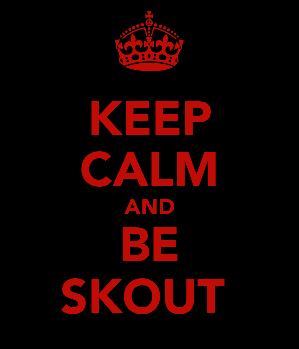 KEEP CALM AND BE SKOUT