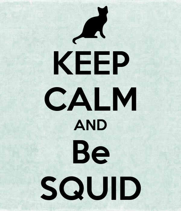 KEEP CALM AND Be SQUID